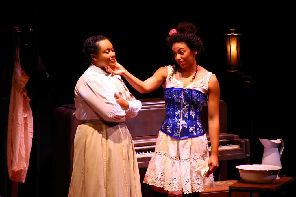 Actors in the 2018 produciton of Intimate Apparel by Lynn Nottage